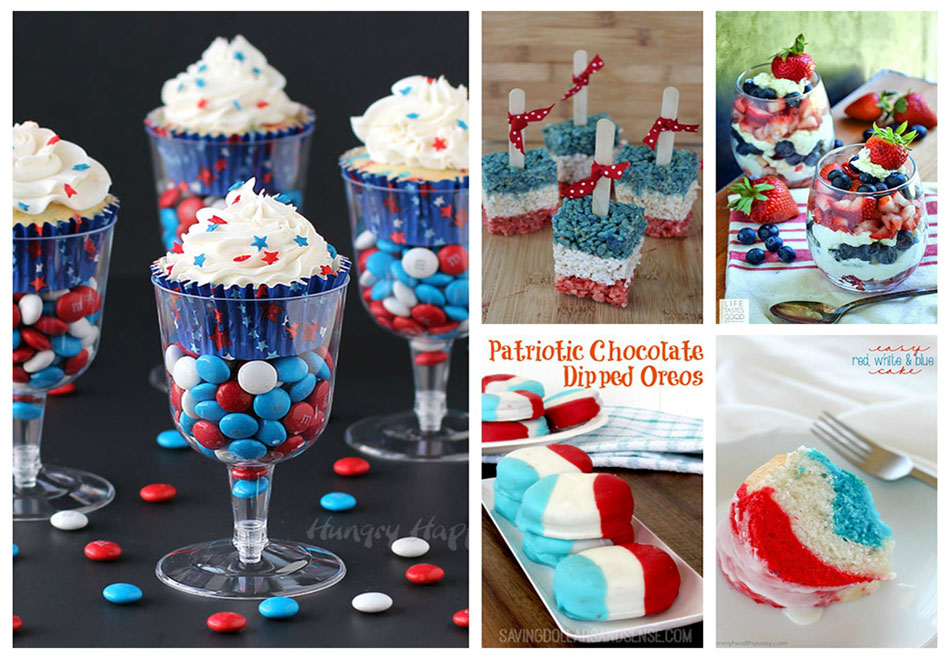 memorial day red white and blue recipes