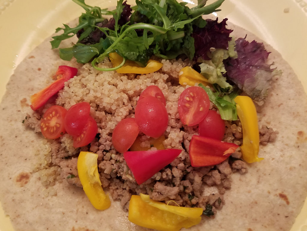 Healthy Turkey and Quinoa Tortilla Wraps