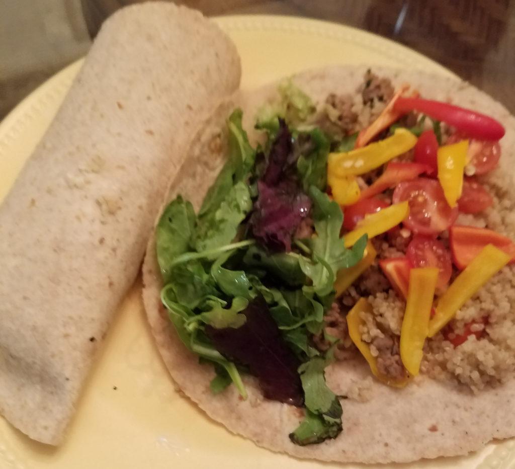 Healthy Turkey and Quinoa Tortilla Wraps
